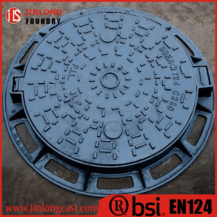 cast iron heavy duty manhole cover foundry direct sale