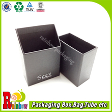 leatherette paper business namecard paper box with custom logo