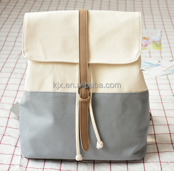 Wholesale Drawstring Closure Canvas Backpack for Girls
