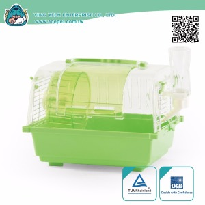 new premium rectangle Transparent Dome plastic covered hamster cage,Small Animals house