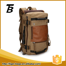 Luxury Khaki outdoor adventure canvas backpack travel bag