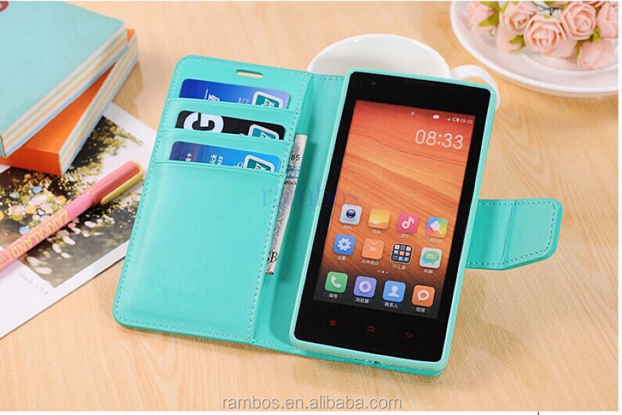 With Stand Leather Credit Card Holder Wallet Flip Cover Case for Sony Z1 Mini E1 for Sony M36h for Xperia M C1905