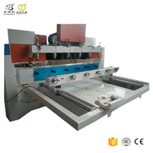 Multi bits 6 spindles 4 axis wood cnc router column carving machine from China factory