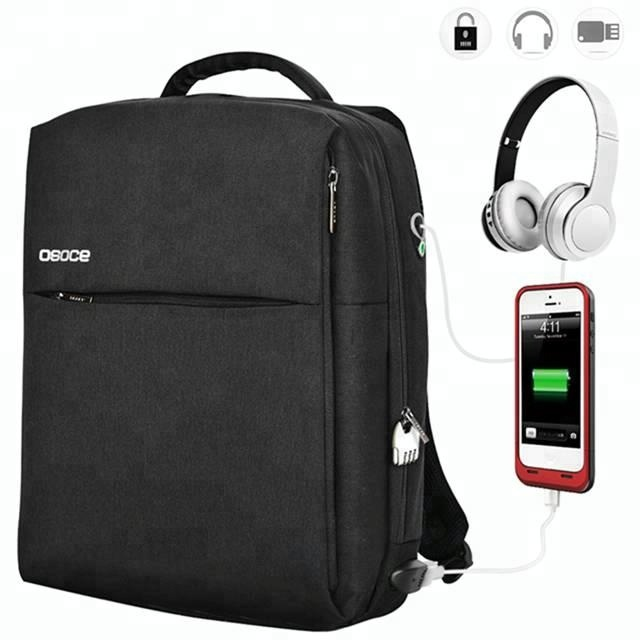 New Fashion Outdoor Water Repellent Laptop Backpack Bag with USB slot and Headphone out