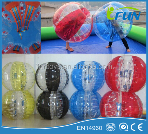 colorful inflatable ball costume/inflatable ball person inside / body inflation ball suit
