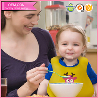 Baby products waterproof food grade silicone baby bib