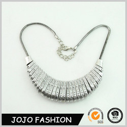 Hot fashion lady iron plated statemnet jewelry stylish indian gold necklace designs HD6891
