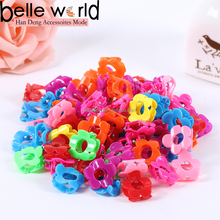 wholesale hot sales colors flowers small size mini plastic hair claw clip