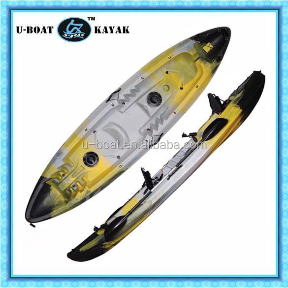 Sit on top double fishing kayak polyethylene boats buy for Double fishing kayak