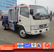 dongfeng XBW hang bins garbage truck, 5 ton dump waste truck for sale