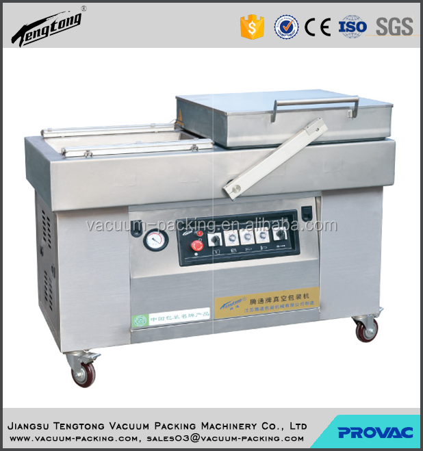 moisture food meat automatic double chamber vacuum packing machine or plastic bag sealing machine with CE certificate