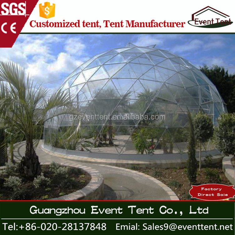 Customized PU/PVC dome tent transparent/translucent half round tent with metal or aluminum frame