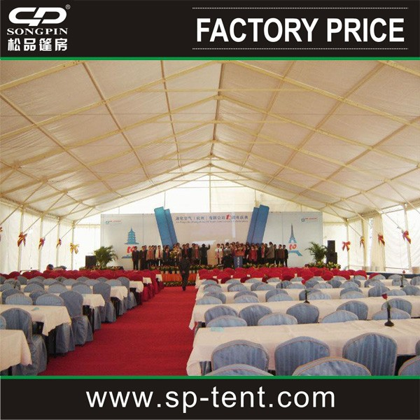 Large outdoor exhibition wedding ceremony meeting tent