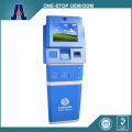 self service dual touch screen kiosk with coin and cash acceptor (HJL-6012)