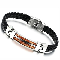 Free Shipping 2016 Fashion Men's Sport Leather Bracelet