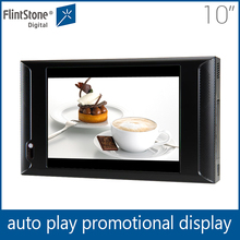 Flintstone 10 inch eye-catching lcd screen ad player for event marketing, video display monitor, shelf mounting advertisement tv