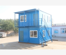 Economic & easy assemble prefabricated high stability/rapidly completed/weather less influenced prefab container cabin