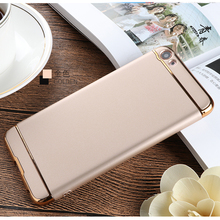 Luxury style 3 in 1 plating frame pc bumper phone case for xiaomi redmi note 5 note 5 pro mi6 mi5 max 2