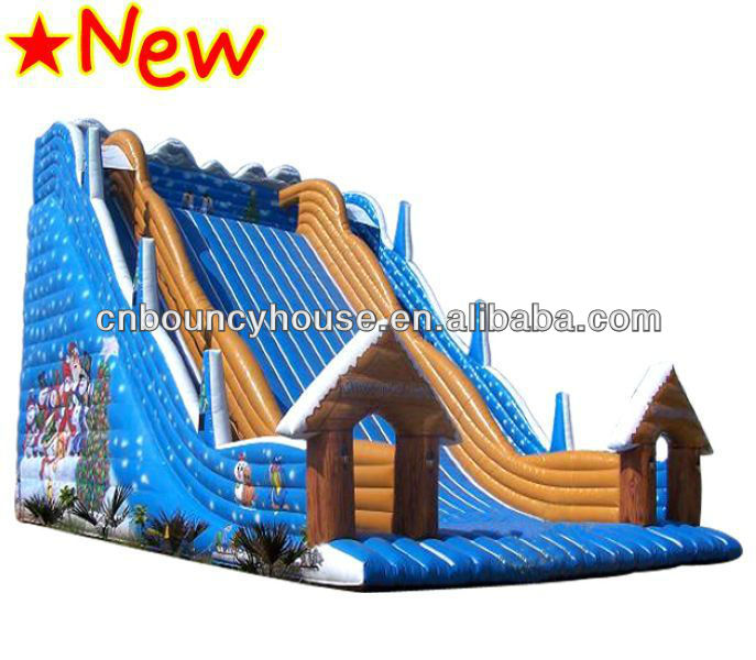 Christmas Decoration Ourdoor Inflatable Games Slide/Giant Inflatable Castle Slide For Fun
