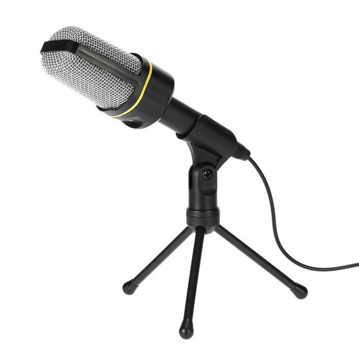 USB Wired Desktop Microphone w/ Tripod - (130cm-Cable)