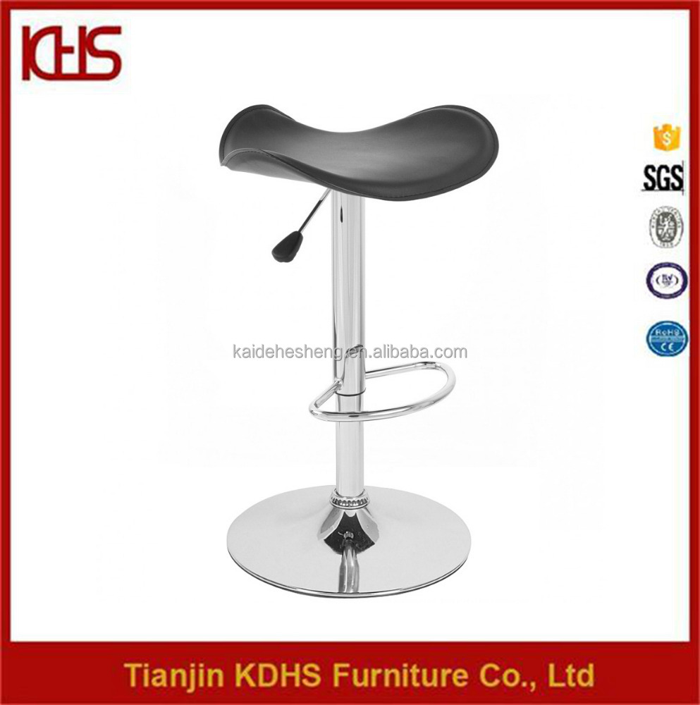 Cheap metal PVC material bar stools with swivel seat