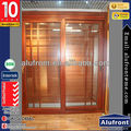 German system aluminium wood cladding sliding door for energy-saving