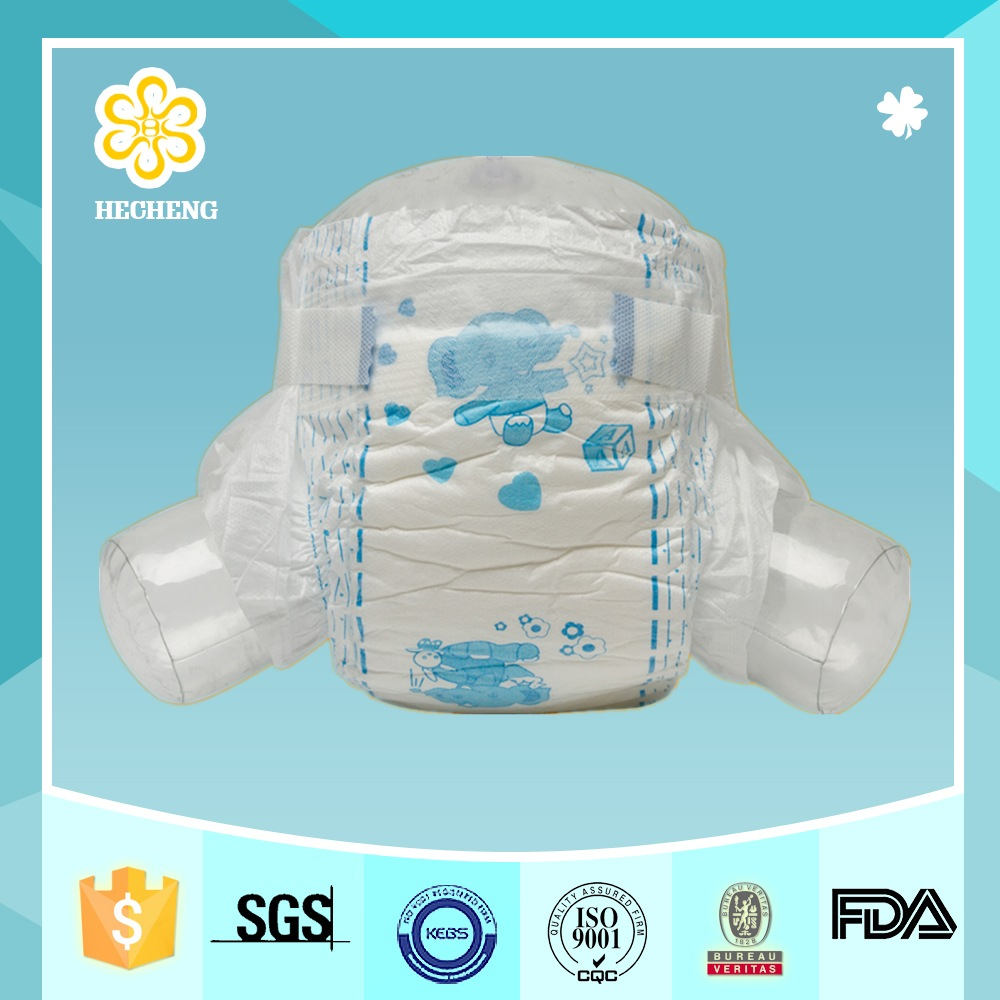 Newborn sweet baby diaper with magic tape