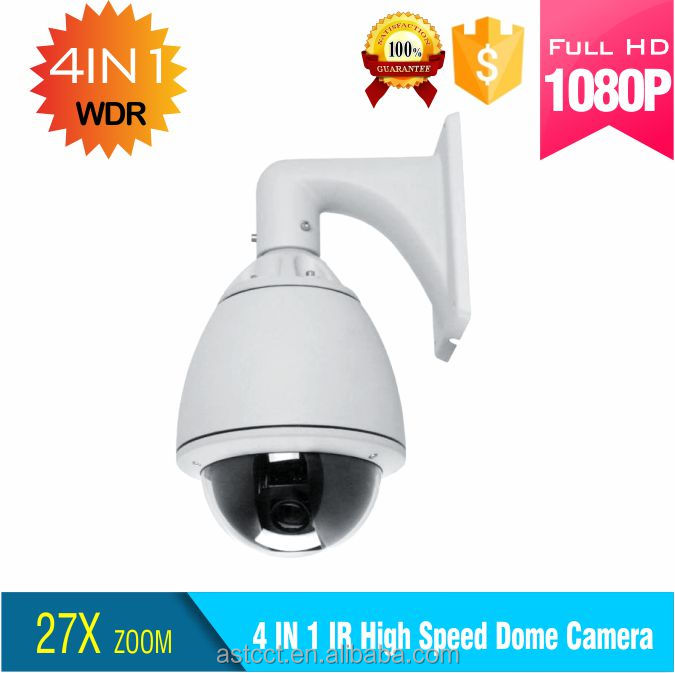 4 in 1 2.0MP 27X optical zoom high speed dome ptz camera support Coaxial cable video control