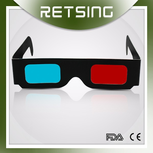 Promotional gift paper 3d glasses for 3D book, 3D movie