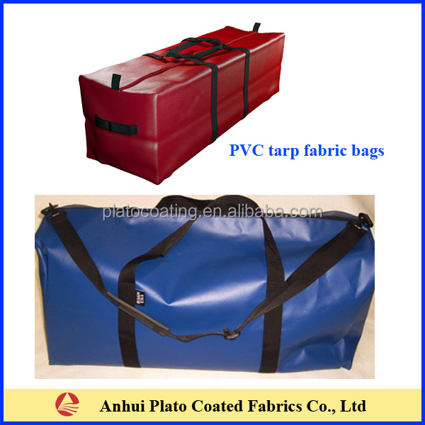 customized pvc tarpaulin travelling zipper open waterproof duffle bag