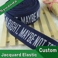 Manufacturer Wide Woven Color Garment Jacquard Elastic Band