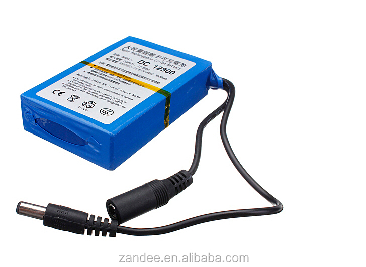 Super rechargeable dc 12v 3ah li ion battery pack for for Battery powered dc motor