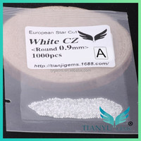 A Quality Round White 0.9mm Signity CZ Stone For Jewelry Wax Setting