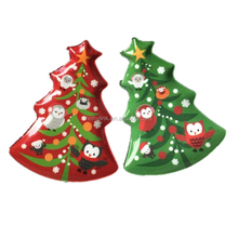 8 Inch Promotion Party Reusable kids Melamine Plastic Christmas Plate