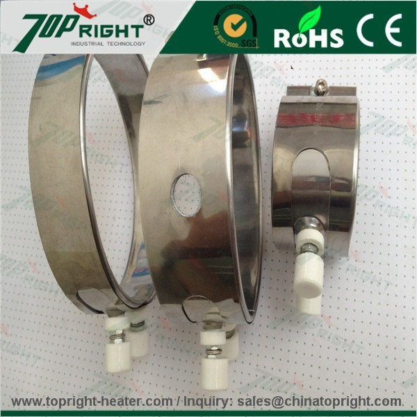 High efficiency Round Shape 230V Stainless Steel Mica Band Heater