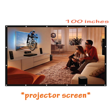 100 Inch 16:9 Portable Tabletop Projector Screen For UC46 AM01S X7 Home Theater / Business Meetings Projector & 72 84 120 Inch