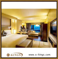 5 star hotel bedroom sets/ royal golden wooden hotel bedroom suites/ deluxe hotel suites