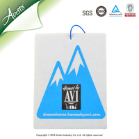 Black Ice Make Hanging Paper Car Air Freshener