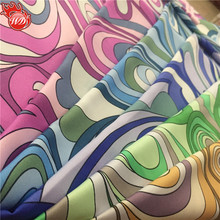 Floral Print Fabric 100% Polyster Digital Matte Satin