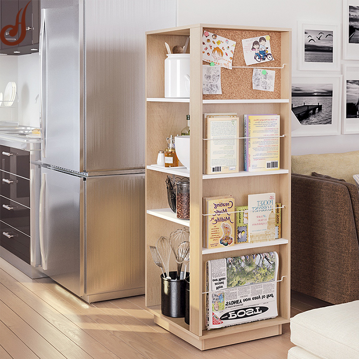 Customized size FR-MDF PD material modern library wooden book racks