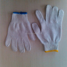 7/10 gauge white knitted cotton gloves manufacturer in china/gloves sport