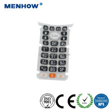 High quality push button waterproof membrane switch keypads with overlay