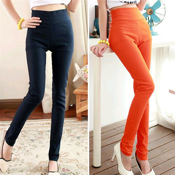 Fashion Women Sexy Candy Color Pencil Pants/Casual pants/Skinny Pants With Cotton Summer Trousers Fit Lady jeans