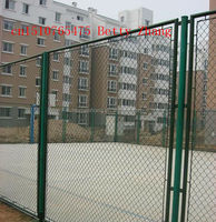 maintenance-free security difficult to climb or cut 3meter high black tennis court fence