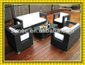 Hot sale Elegant synthetic rattan poly rattan garden sofa set SCSF-002