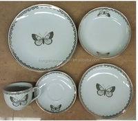 Home coupe ceramic fine porcelain elegant rose design crockery dinner set