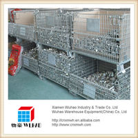 industrial collapsible steel mesh crate wire container for forging products