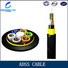 Non metallic Armored Fiber optic cable ADSS for Telecom power or Direct buried