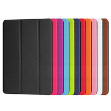 Folding smart multuple color cover leather tablet pc case for ipad mini 4