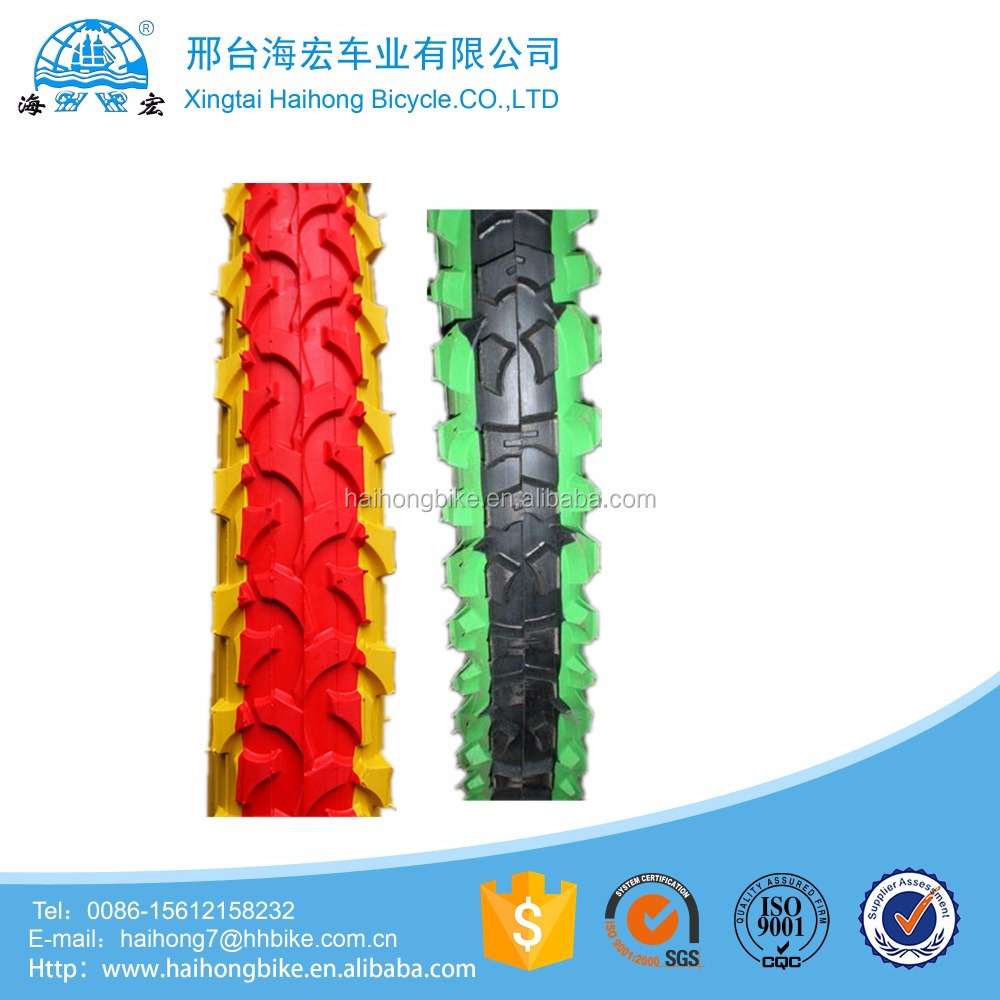 2017 New style colored mountain bicycle tire tyre for mtb dirt racing bycicles